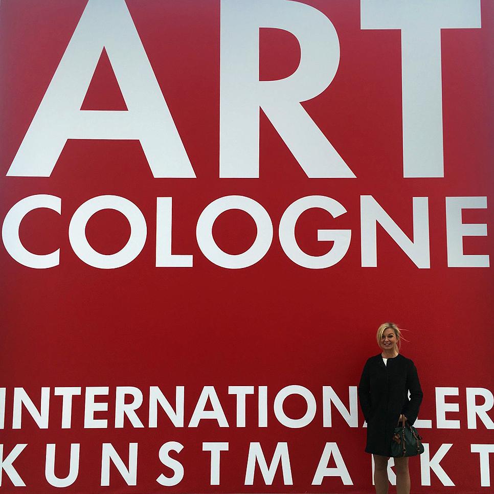 Katja Richter unterwegs. . . auf der ART COLOGNE