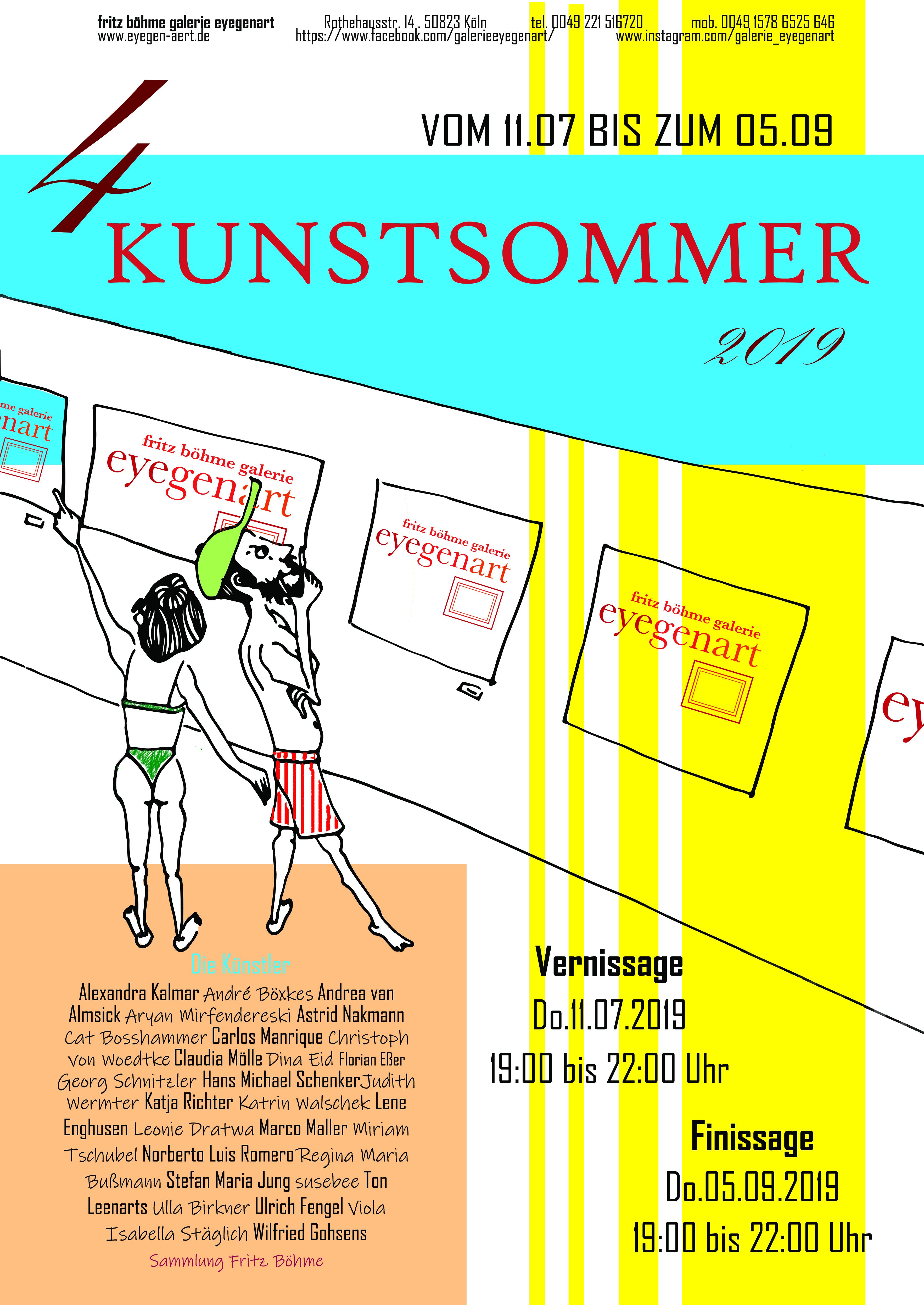 KUNSTSOMMER in der Galerie EYEGENART