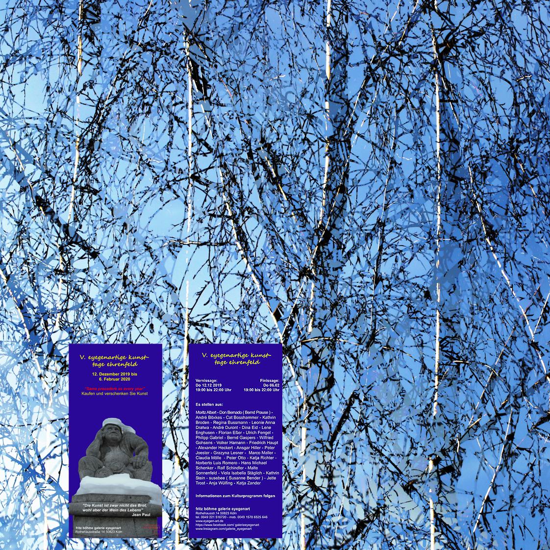EINLADUNG . . . zur Winter-Ausstellung der Galerie eyegenart
