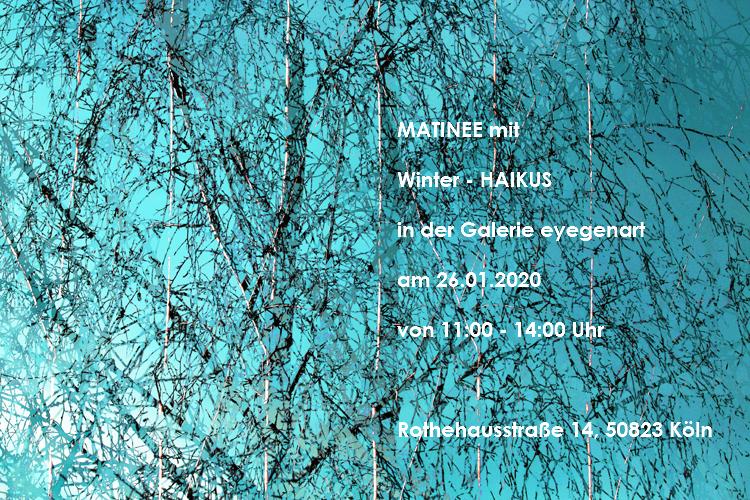 Matinee zur Winterausstellung in der Galerie eyegenart